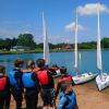 children learning to sail