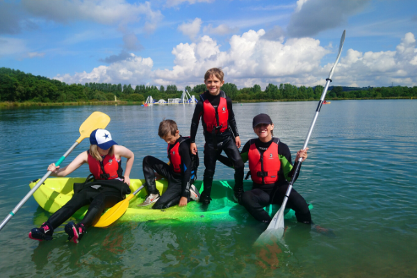 family kayak session