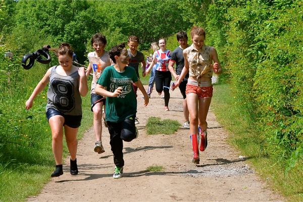 group of children on the adventure trail
